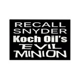 Recall Governor Rick Snyder Rectangle Magnet (100