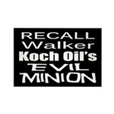 Recall Scott Walker Rectangle Magnet (10 pack)