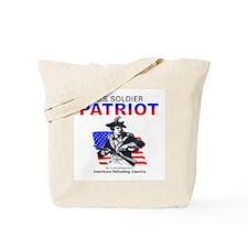 Proud US Soldier Patriot Tote Bag