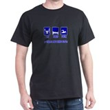 Eat Sleep Swim is there anyth Black T-Shirt