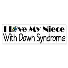 Down Syndrome Niece Bumper Sticker