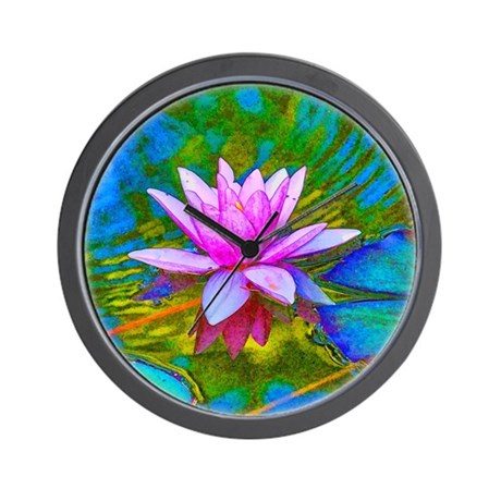 Waterlily, Lotus, Lilypad Wall Clock