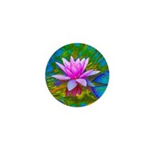 Waterlily, Lotus, Lilypad Mini Button