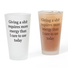 giving a shit Pint Glass