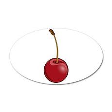 Cherry Icon 22x14 Oval Wall Peel