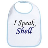 """I Speak Shell"" Bib"