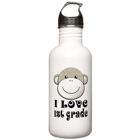 I Love First Grade Stainless Water Bottle 1.0L