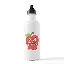 2nd Grade Apple Water Bottle