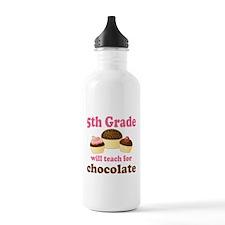 Funny 5th Grade Teacher Water Bottle