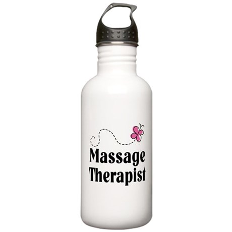 Pretty Massage Therapist Stainless Water Bottle 1.
