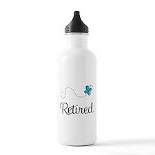 Pretty Retired Retirement Water Bottle