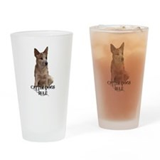 Cattle Dogs Rule Drinking Glass