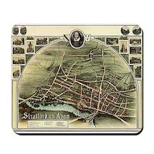 Vintage Stratford Map Mousepad
