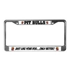 Pit Bulls License Plate Frame