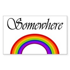 Somewhere Over the Rainbow Rectangle Decal