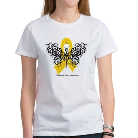 Childhood Cancer Tribal Women's T-Shirt