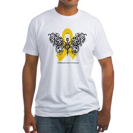 Childhood Cancer Tribal Fitted T-Shirt