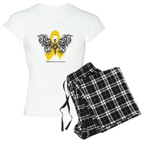 Childhood Cancer Tribal Women's Light Pajamas