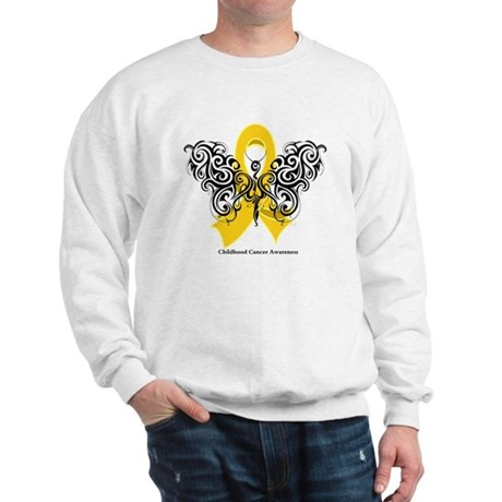 Childhood Cancer Tribal Sweatshirt