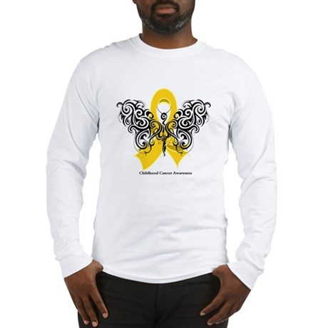 Childhood Cancer Tribal Long Sleeve T-Shirt