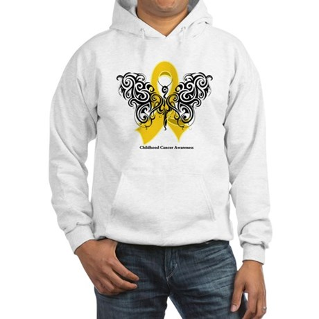 Childhood Cancer Tribal Hooded Sweatshirt