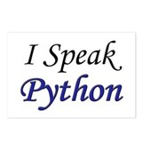 """I Speak Python"" Postcards (Package of 8)"