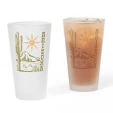 Vintage Arizona Cactus Pint Glass