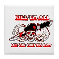 Kill 'em all Tile Coaster