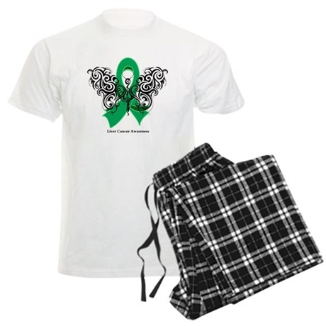 Liver Cancer Tribal Butterfly Men's Light Pajamas