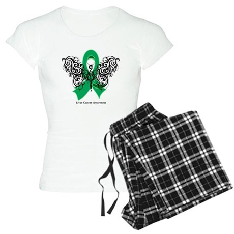 Liver Cancer Tribal Butterfly Women's Light Pajama