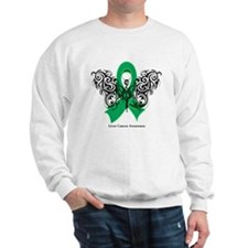 Liver Cancer Tribal Butterfly Sweatshirt