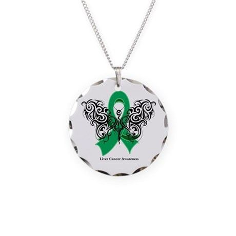 Liver Cancer Tribal Butterfly Necklace Circle Char