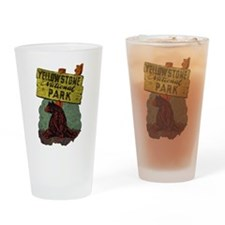 Vintage Yellowstone Pint Glass