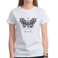 Lung Cancer Tribal Butterfly Tee