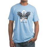 Lung Cancer Tribal Butterfly Shirt