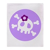 Lilac Skull Throw Blanket