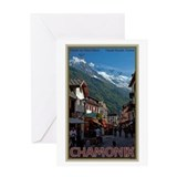 Chamonix Town Greeting Card