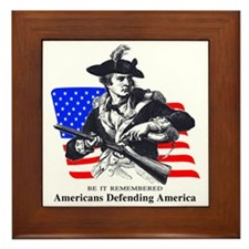 Coast Guard Minuteman Patriot Framed Tile