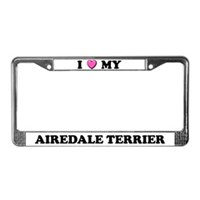 Airedale Terrier License Plate Frames