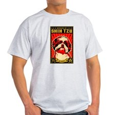Beware of SHIH TZU! Ash Grey T-Shirt