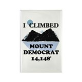 I Climbed Mount Democrat Rectangle Magnet