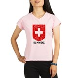Schweiz Switzerland Shield Women's Sports T-Shirt