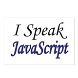 """I Speak JavaScript"" Postcards (Package of 8)"