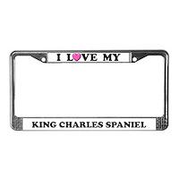Cavalier King Charles Spaniel License Plate Frames