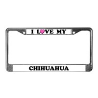 Chihuahua License Plate Frames