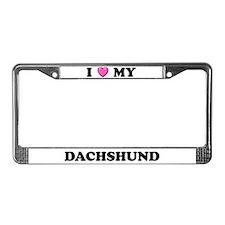 I Heart My Dachshund License Plate Frame