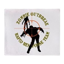 Zombie Outbreak Rapid Response Throw Blanket