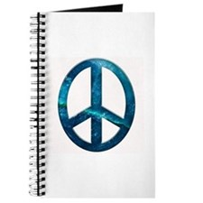 Turquoise Sculpted Stone Peace Symbol Journal