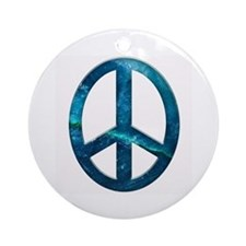 Turquoise Sculpted Stone Peace Symbol Ornament (Ro