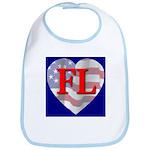 Love FL Flag Heart Bib